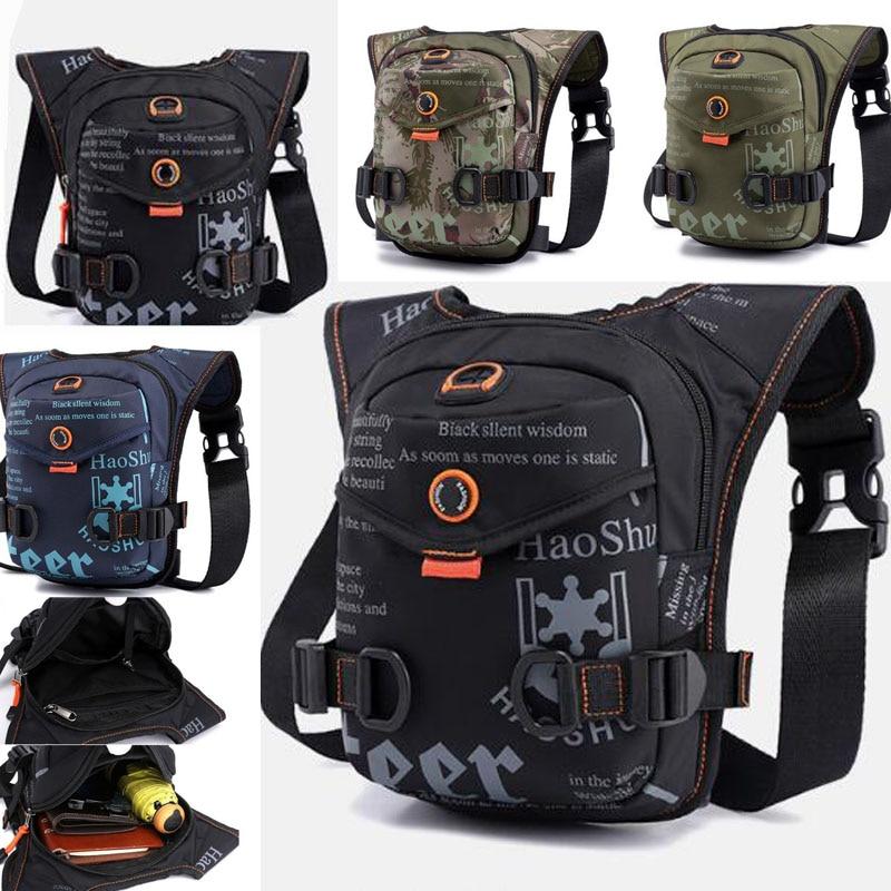 High Quality Men Fanny Bag Waterproof Oxford  Trend Riding Bag High Quality Messenger Shoulder Bags Drop Waist  Leg Bag