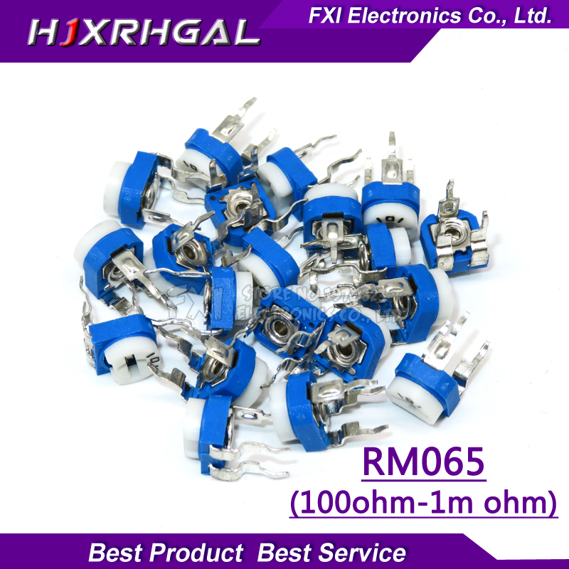 20pcs RM065 RM-065 100 200 <font><b>500</b></font> 1K 2K 5K 10K 20K 50K 100K 200K 500K 1M <font><b>ohm</b></font> Trimpot Trimmer <font><b>Potentiometer</b></font> variable resistor image