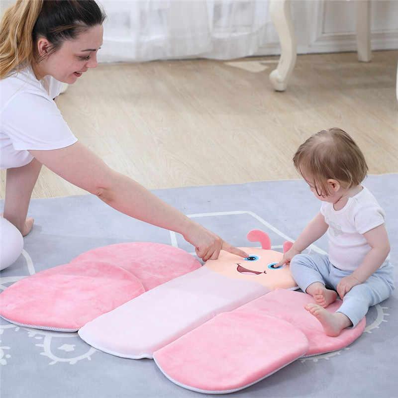 新生児咲くバスタブベビー折りたたみ蝶浴槽幼児用ベビーバスクッションゲームマット 81*73 センチメートル