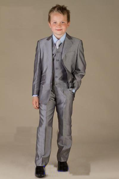 Two Buttons Gray Boys Formal Wear Tuxedos Notch Lapel Children Suit Kid Wedding Prom Suits,Bespoke Boy Blazer For WeddingTwo Buttons Gray Boys Formal Wear Tuxedos Notch Lapel Children Suit Kid Wedding Prom Suits,Bespoke Boy Blazer For Wedding