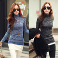 2016 New Autumn Winter Women Turtleneck Long Sleeve Knitted Sweater Ladies Casual Slim Fit Pullovers Jumper Tops Plus Size