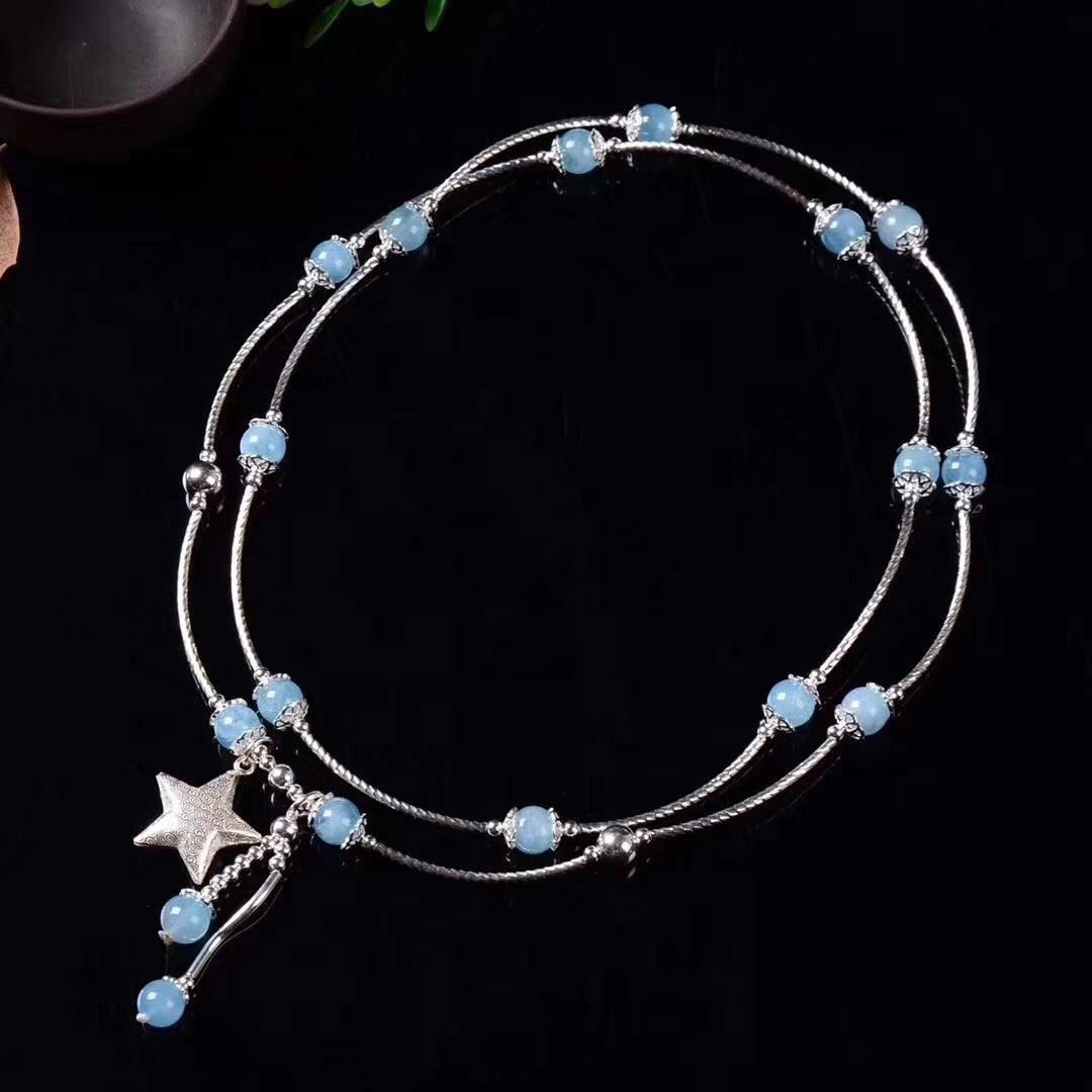 Armbanden Voor Vrouwen Kehribar Jewelry S925 Sterling Accessories Fashion Diy Handmade, Worn By Ms. Hai Lan Bao Hand String