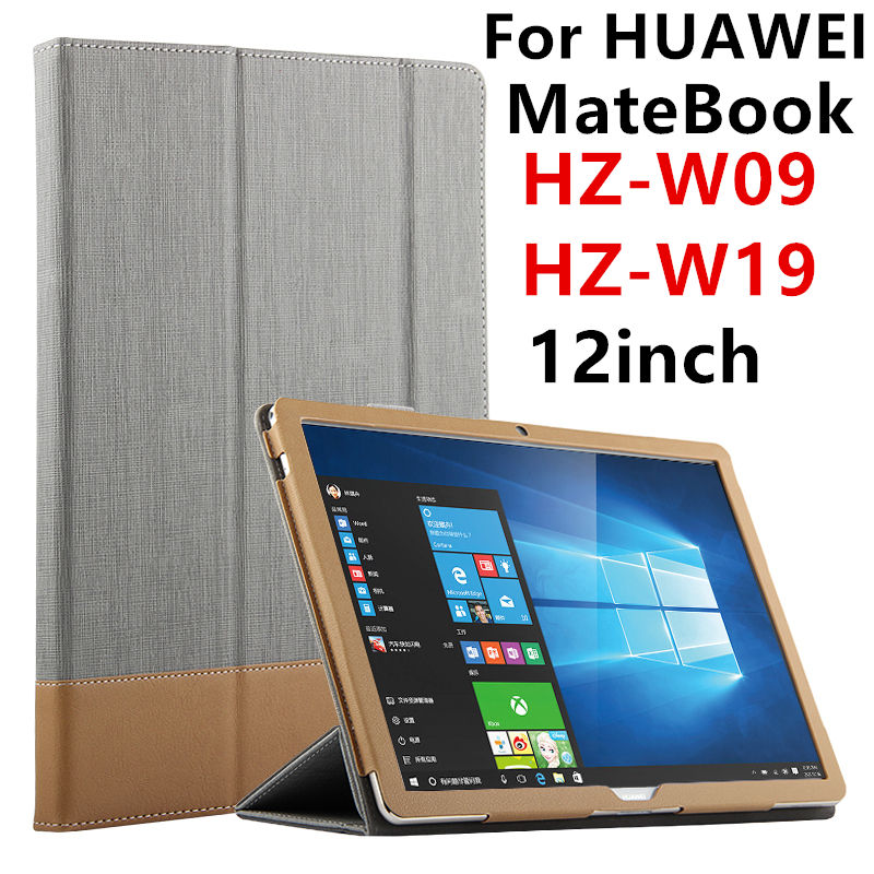 все цены на Case For HUAWEI MateBook Smart cover 12inch Faux Leather Protective Tablet PC For HUAWEI MateBook HZ-W09 HZ-W19 HZ-W29 Protector онлайн