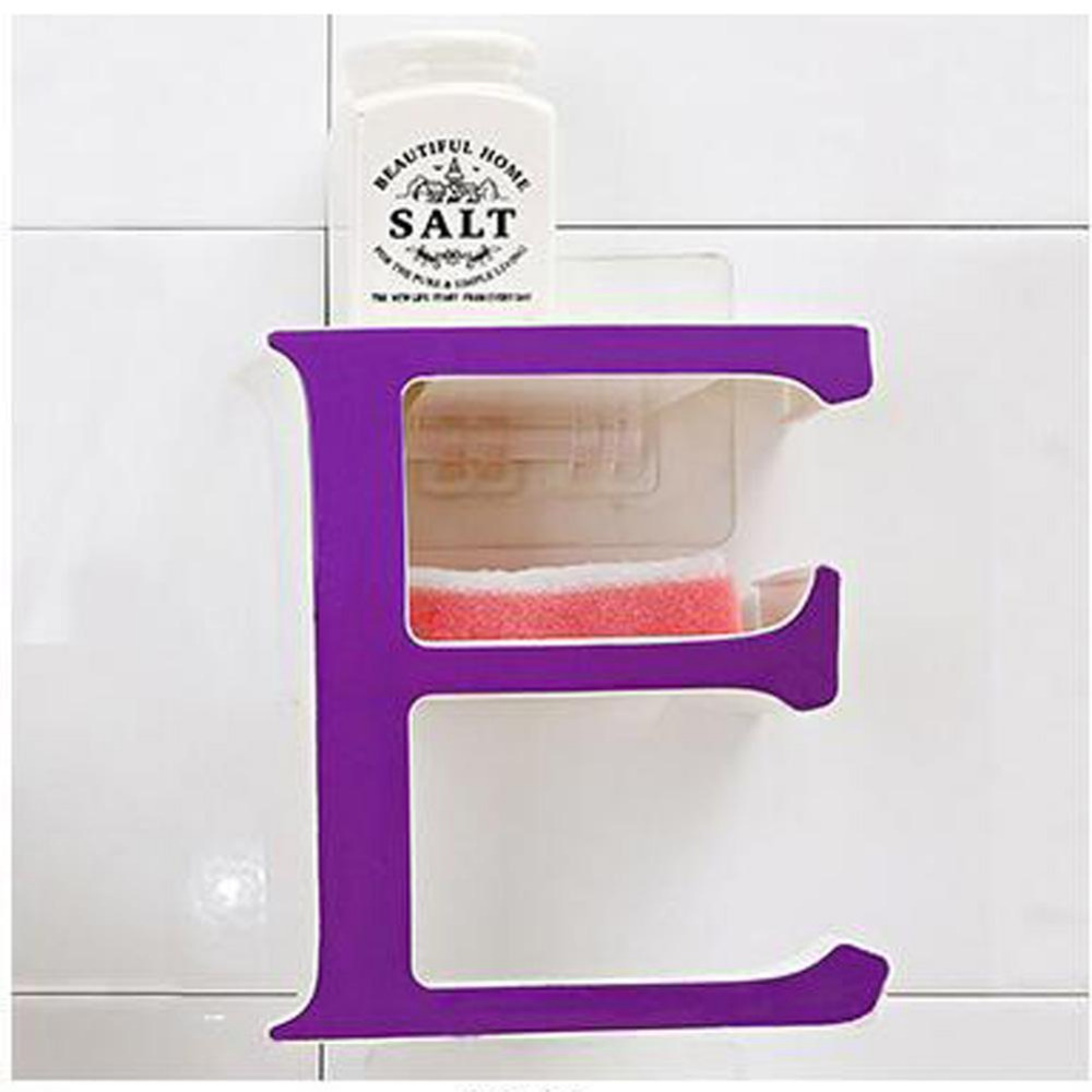 1pcs Letter E Plastic Bathroom Shelf Storage Rack For Kitchen Saving Purple In Racks Holders From Home Garden On Aliexpress Alibaba