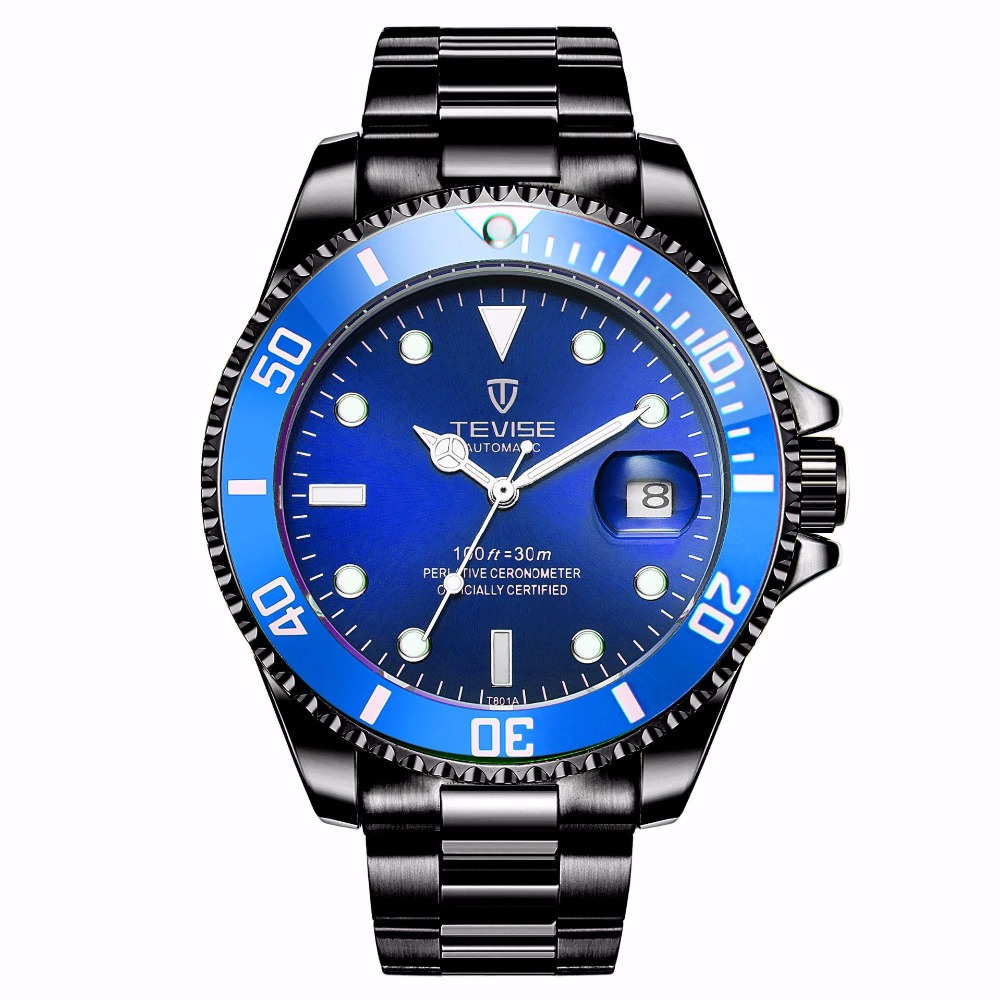 TEVISE 2018 New Watch Fully-automatic Mechanical Watch Male Waterproof Luminous Calendar watches цена