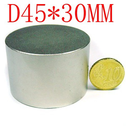 купить 45*30 1pcs 45mm x 30mm disc powerful magnet craft neodymium  rare earth permanent strong n50 n52 45*30 45x30 недорого