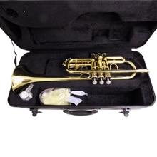 C плоская труба латунные инструменты с тромпитом мундштук лаковая отделка с ABS чехол Музыкальные инструменты