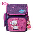 Delune Authentic School Bag Backpacks Bear Printing Schoolbags for Girls Boys Durable Backpack for Primary Students