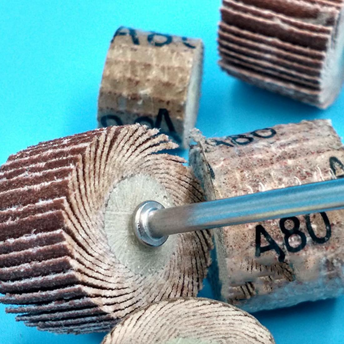 10Pcs Sanding Sandpaper Wheel Disc 20mm Flap 240 Grit Set For Dremel Rotary Tool