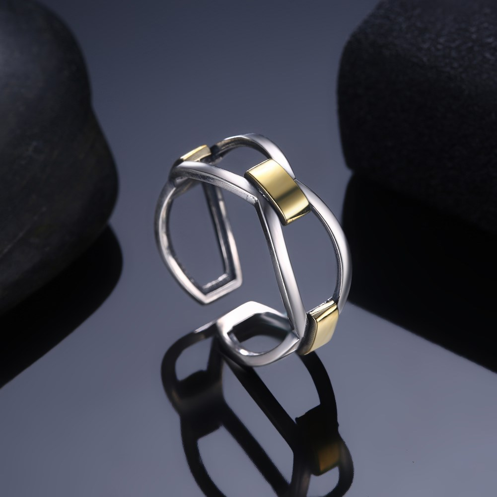 Ring Silver 925 Jewelry Retro Adjustable Hollow Style Rings For Women Special Design Party Jewelry 925 Sterling Silver Ring Gift