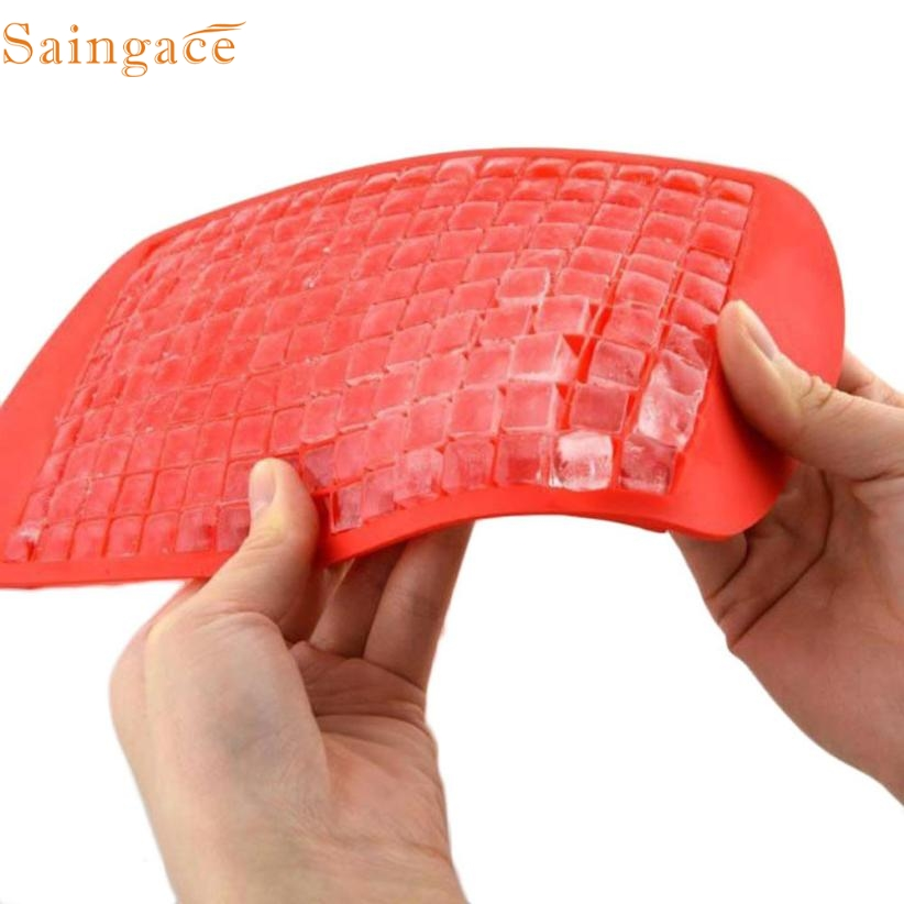 11.11 High Quality  160 Ice Cubes Frozen Cube Bar Pudding Silicone Tray Mould Mold Tool