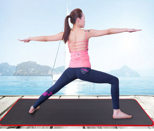 183*60cm Non-slip NBR Yoga Mats Fitness 10mm Exercise Sports Gym Pilates Mat Thickened Tear Resistant With Yoga Mat Bag & Strap