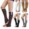 New arrival Women's Knee-high Crochet Knitted Leg Warmers Lace Trimmed Boot Socks for top quality