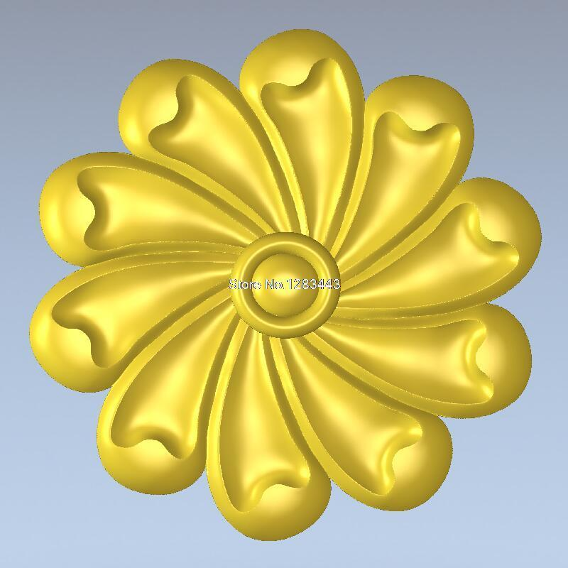 Round flower_010 carved figure floral bed column carved reliefs  3D model for cnc 3D carved figure sculpture machine in STL file martyrs faith hope and love and their mother sophia 3d model relief figure stl format religion for cnc in stl file format