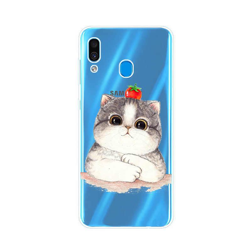 Per Samsung Galaxy Caso di A40 2019 Del Fiore Del Silicone Caldo Molle di TPU Della Copertura Posteriore Coque Per Samsung A40S A40 Un 40 telefono Custodie