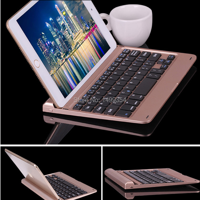 HOPE New Arrival 7.8mm Aluminium Alloy Wireless Bluetooth Keyboard For Apple iPad Mini 4 Gold / Grey / Silver