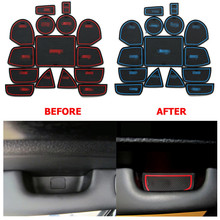 Car Gate Slot Pad Non-slip Door Groove Mat Car Carpets Interior Accessories Door Rubber Coast For Jeep Grand Cherokee 2011-2015