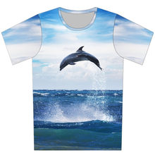 Joyonly 2018 Blue Sky Sea Jump Dolphin Print Children T-shirts Summer Tops  Boys Girls Short Sleeve Clothes Baby Kids T shirt ed91727da24e
