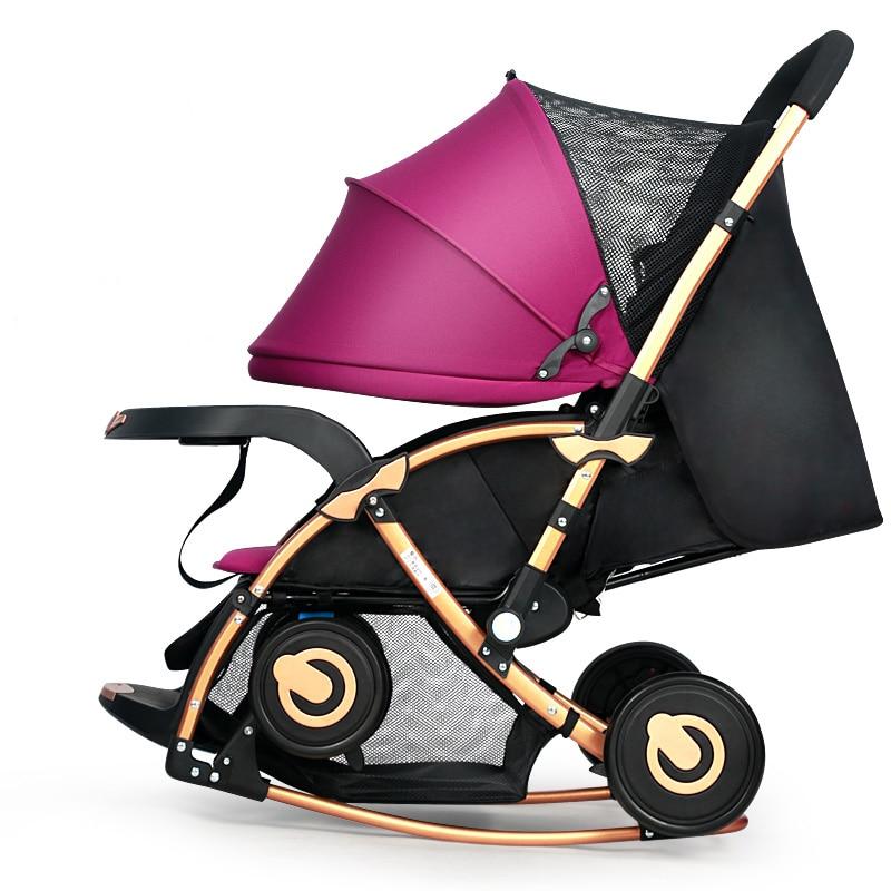 Baby stroller folding rocking horse Pushchair Infant Stroller gold frame baby stroller folding rocking horse pushchair infant stroller gold frame