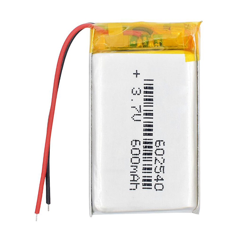 3.7V 600mAH <font><b>602540</b></font> Polymer Lithium ion/Li-ion <font><b>Battery</b></font> for DVR RECORD MP3 MP4 CAMERA image