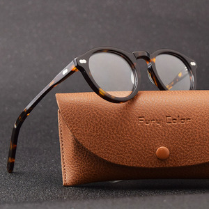 Image 4 - Smalj ラウンドハンドメイドアセテートフレーム女性眼鏡男性ゴーグル光学眼鏡デミ近視光学眼鏡近視