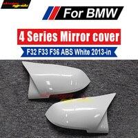 F32 f33 f36 espelho retrovisor cobre tampa decoração abs branco puro para bmw 420i 428i 435i 440i 440ixd espelho cobre 2013 2018 Espelho e capas     -