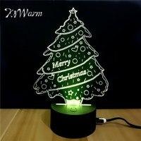 KiWarm 3D Christmas Tree Design Novelty Light Lampada USB Led Table Lamp Bulbing Colorful Night Light