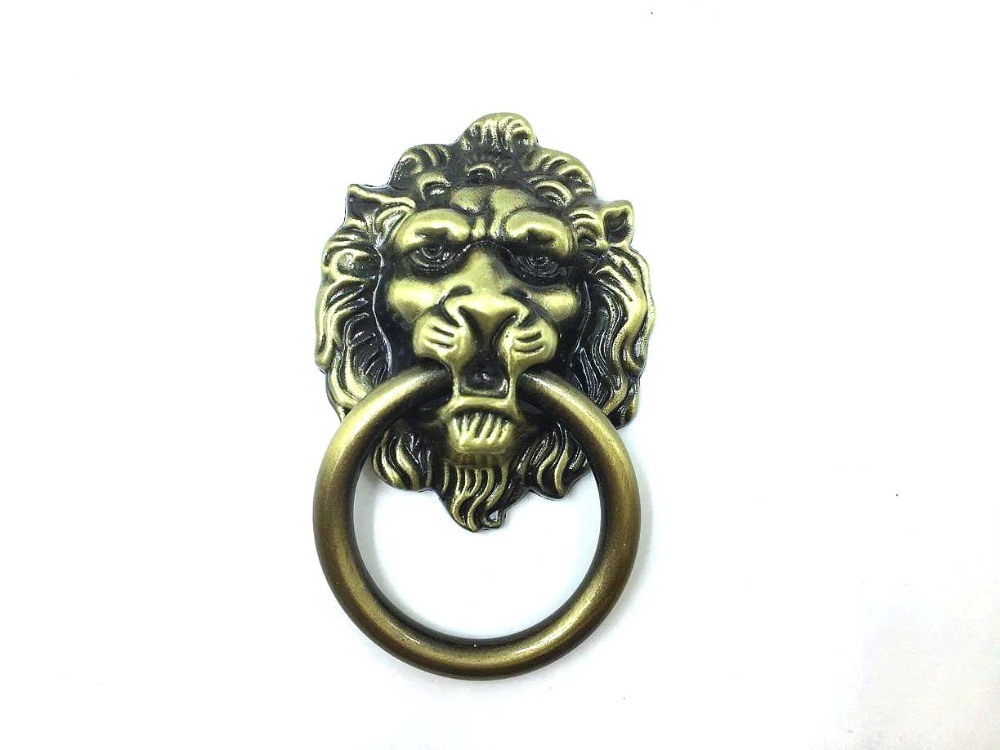 antique bronze lion head design drawer ring pull kitchen cabinet knob drawer handle knob lion head door knocker cabinet knob