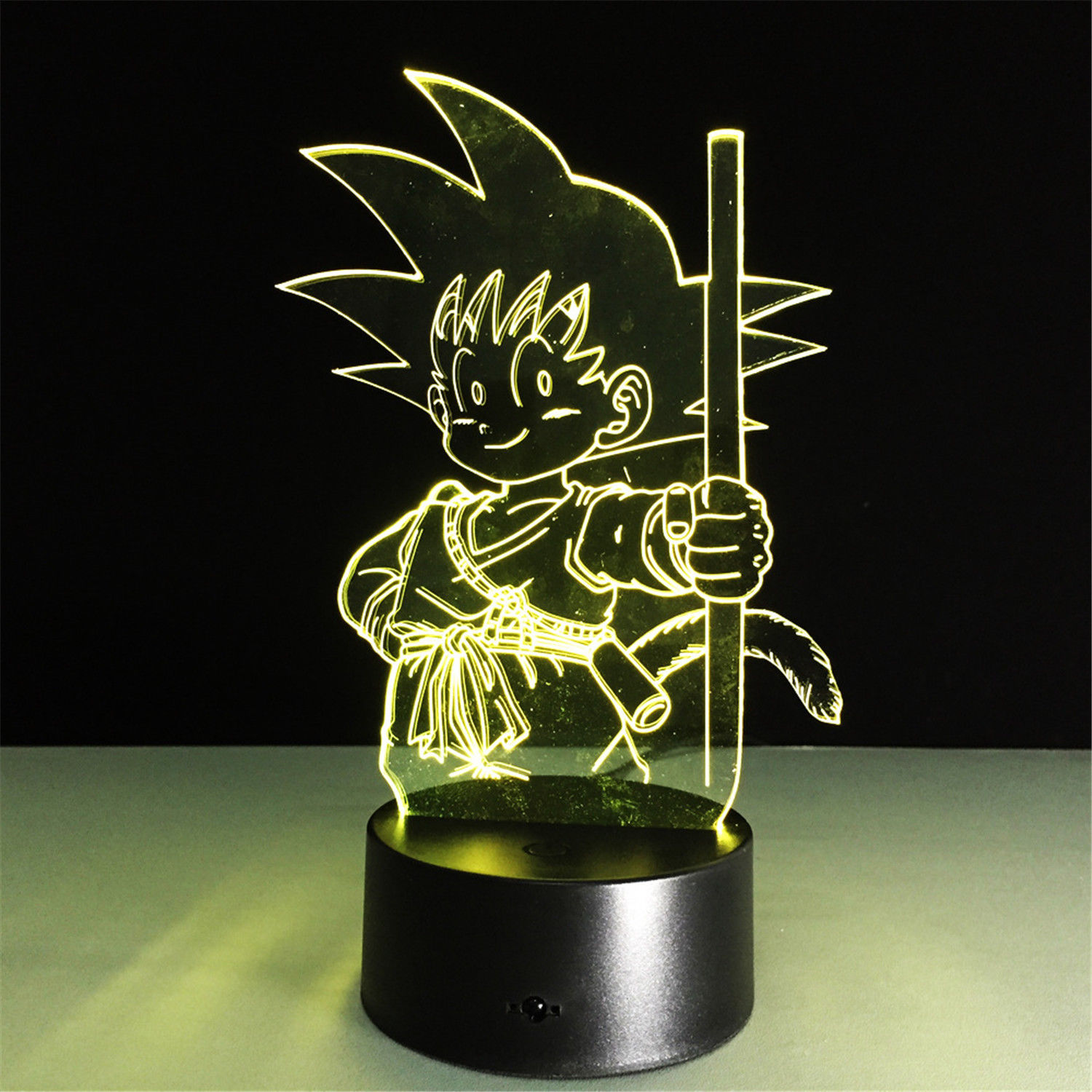 Night Atmosphere Print Dragon Ball 3D Illusion Night Light Color Change Touch Switch Table Desk Lamp