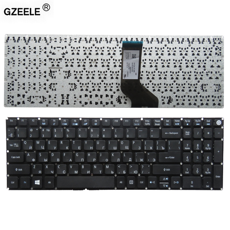 GZEELE laptop keyboard for Acer Aspire E5-573 E5-573T E5-573TG E5-573G E5-722 E15 E5-582P 507H 56AV 507H 54G6 F5-572 RU BLACK al15a32 laptop battery for acer aspire e5 473g e5 573g e5 553g kt 00403 025 4icr17 65