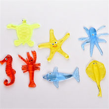 1pc Zeester Octopus Shark Kids Sticky Zeedier Speelgoed Zacht Materiaal Decompressie(China)