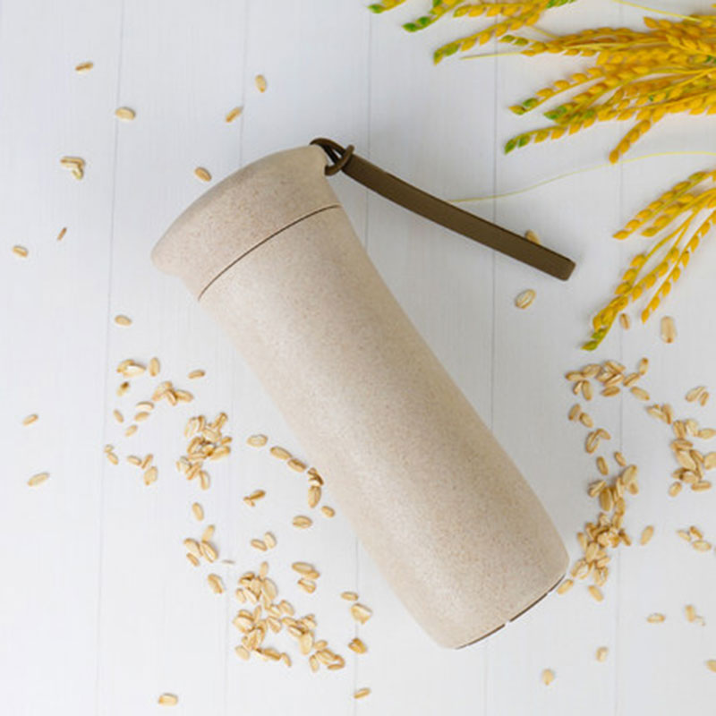 GFHGSD Creative Real New Protein Shaker Water Bottle Wheat Straw - Kitchen, Dining and Bar - Photo 3