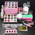 Professional Nails Tool Set Acrylic Glitter Powder Liquid Brush Clipper Primer File Nail Art Tips Kit