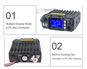 Image 4 - In Moscow Car Mobile Walkie Talkie  Amateur Ham Radio Vehicle Transceiver 136/220/350/440MHZ 4 Bands UHF VHF Mobile car radios