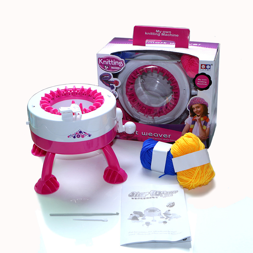 Diy Smart Girls Knitting Loom Machine Weaver Toy Playset