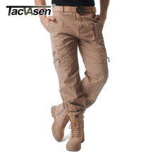 TACVASEN צבאי בגדי גברים מכנסיים מטען טקטיים קרביים מכנסיים אביב סתיו מזדמן כותנה ארוך מטען עבודה מכנסיים 27 38