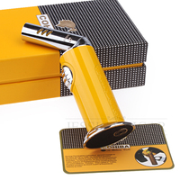 COHIBA Rotate Metal 1 Frame Jet Lighter Refillable Butane Gas Torch Cigar Lighters Windproof Cigarette Fire