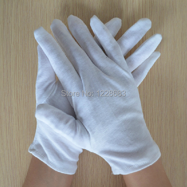 Cotton White Gloves Ceremonial Driver Jewelry Full Hands Sweat Anti Fingerprint