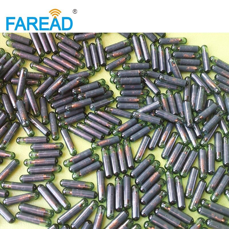 X20pcs 125KHz Q5 T5577 2*12mm RFID Glass Tag For Identification UID/ID64/Manchester/Unique/64bit