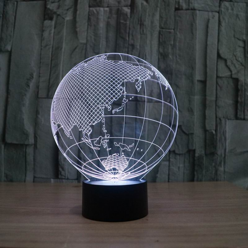 FS-2819 Amazing 3D Illusion led Table Lamp Night Light with Asia earth  shape with ... - Lamp Picture - More Detailed Picture About FS 2819 Amazing 3D