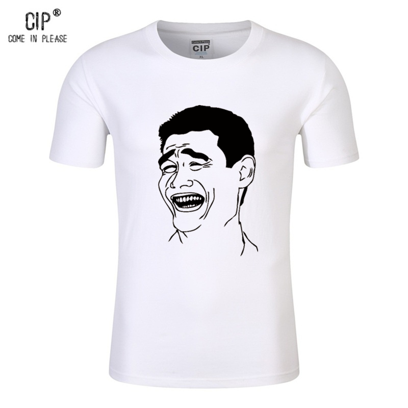 CIP 100%Cotton Yao Ming Sportswear Funny Emoji Printed T-shirt for Girls Boys Summer Round Neck Teens Tshirt Emoji Tops for Kids