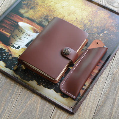 Creative stationery wholesale travel retro hand book header suede leather notebook bronze button notepadCreative stationery wholesale travel retro hand book header suede leather notebook bronze button notepad