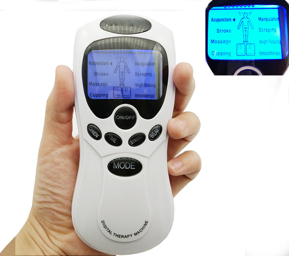 New 8 Pads English keys herald Tens Acupuncture Body Massager Digital Therapy Machine For Back Neck Foot Leg health Care health care electric acupuncture full body massager digital therapy machine for back neck foot amy leg slimming muscle relax