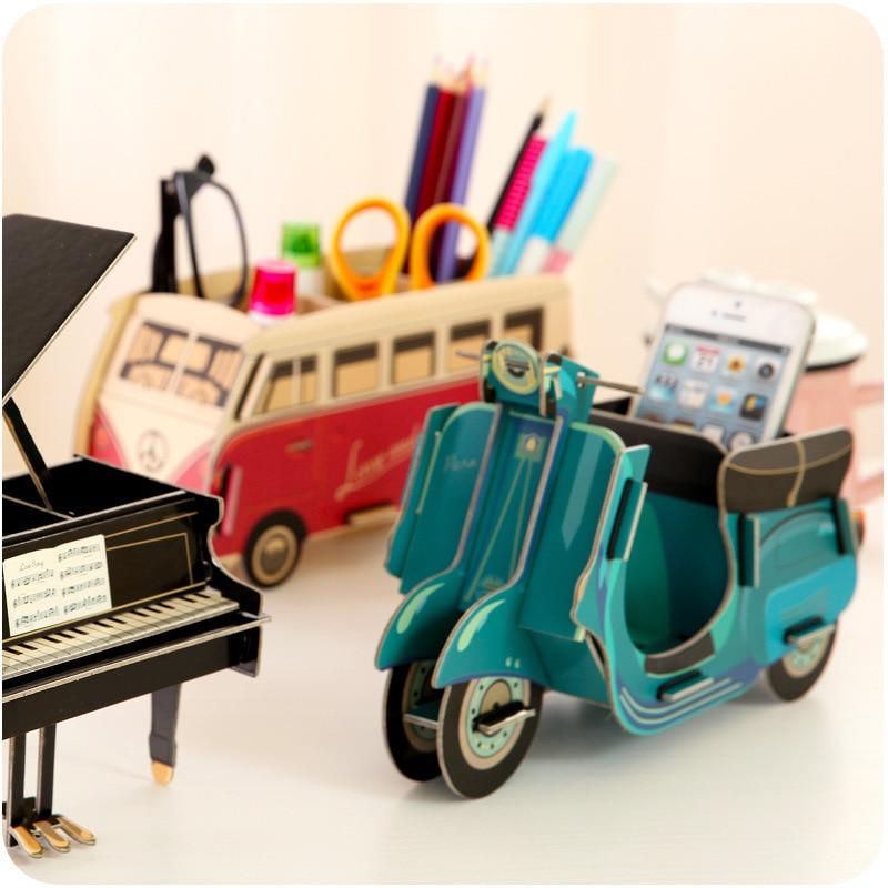 Eworld Творчі DIY Картон Настільний Pen Holder - Організація і зберігання в будинку - фото 4