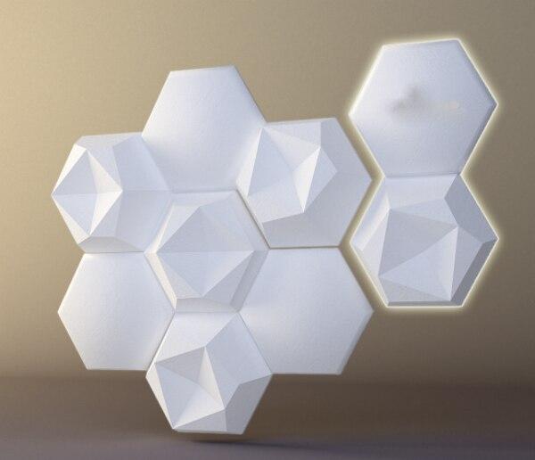 """Пластик формы для пластырь 3D Декоративное Настенное панно """"шестиугольник"""" Новый Дизайн 2017 год"""