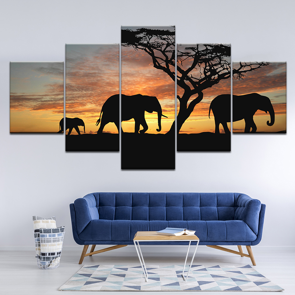 Art, Wall, Pieces, Savannah, Room, Print
