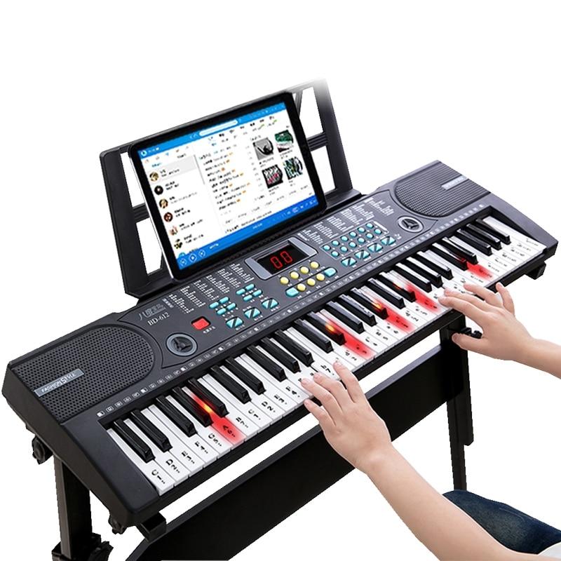 Tastiera Principiante Dei Ragazzi E Delle Ragazze Dei Bambini 61 Tasti 1-12 Anni Di Età Multi-Funzione Intelligente Del Bambino Pianoforte Tastiera