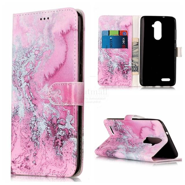 Granite Marble Texture Flower Wallet PU Leather Flip Cover For ZTE Z981 Case Stand Card Fundas For ZTE Zmax Pro Z981 Phone Bags