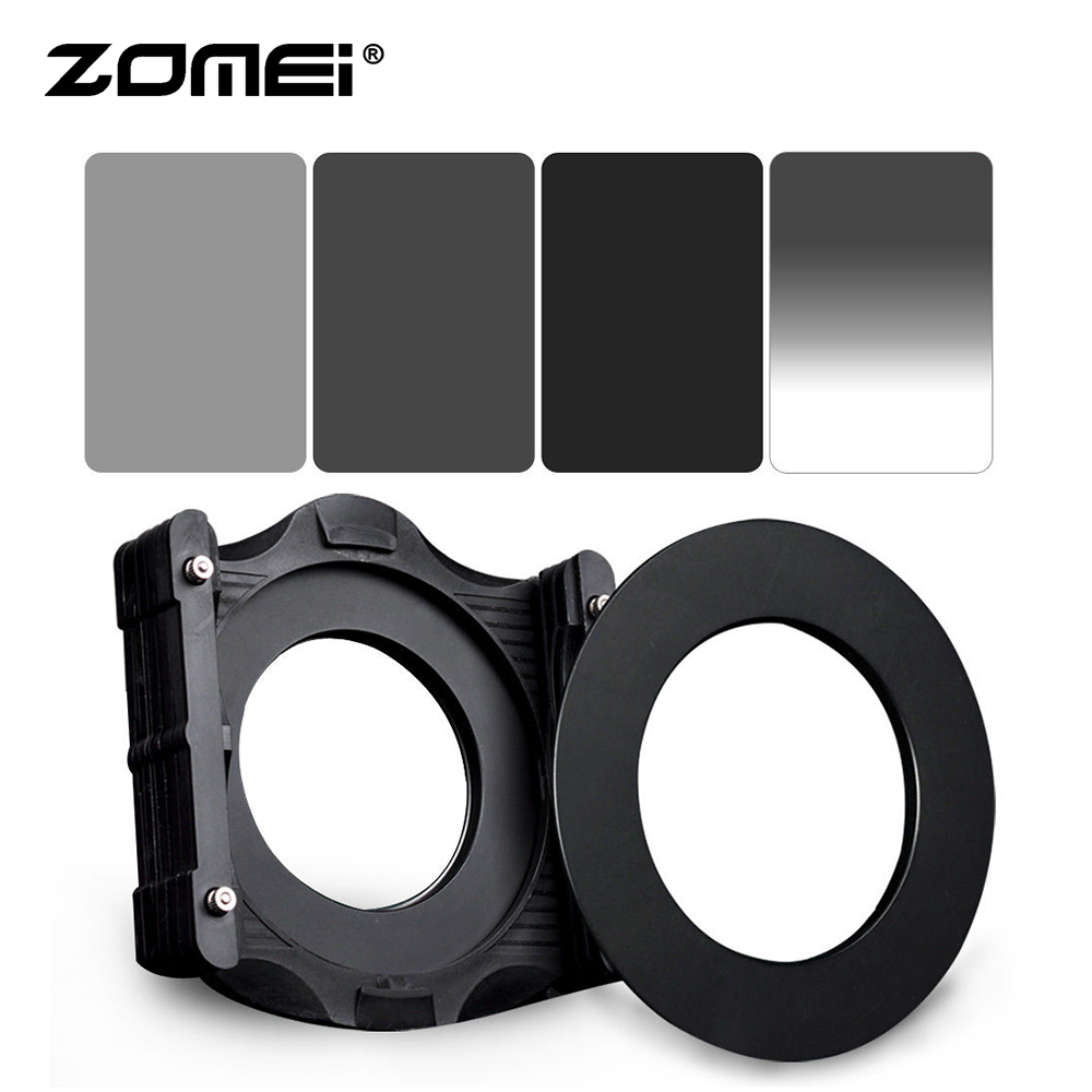 Zomei 150*100mm ND2 + ND4 + ND8 Square LEE filter + GND ND4 + 67 / 72 / 77 / 82 / 86mm Ring Adapter + Cokin Z LEE Hoder System-in Camera Filters from Consumer Electronics    1