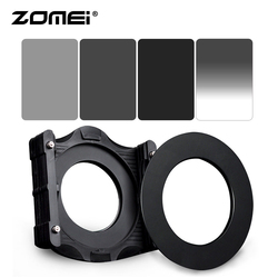 Zomei 150*100mm ND2 + ND4 + ND8 Square LEE filter + GND ND4 + 67 / 72 / 77 / 82 / 86mm Ring Adapter + Cokin Z LEE Hoder System